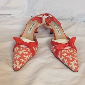 Manolo Blahnik slingback shoes